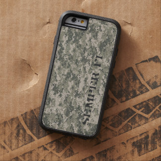 Caja del teléfono de Digi Camo Funda De iPhone 6 Tough Xtreme