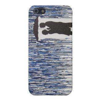 Caja del teléfono de Iphone 5/5s de la lluvia iPhone 5 Protectores