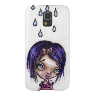 Caja del teléfono de Kawaii del día lluvioso por Funda De Galaxy S5