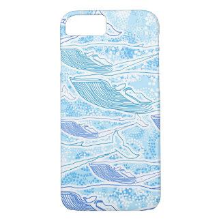 Caja del teléfono de la ballena azul funda iPhone 7