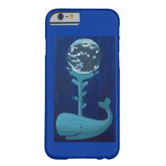 Caja del teléfono de la ballena de la tierra funda para iPhone 6 barely there