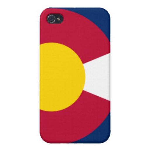 Caja del teléfono de la bandera de Colorado iPhone 4/4S Carcasas