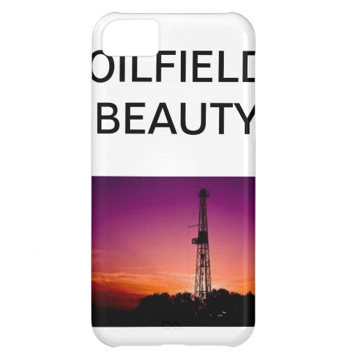 Caja del teléfono de la belleza del campo petrolíf