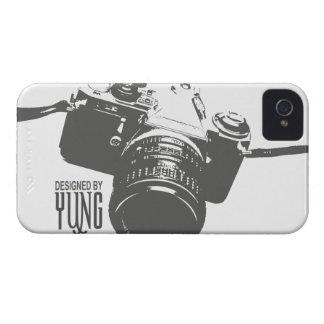 Caja del teléfono de la cámara del vintage iPhone 4 Case-Mate carcasas