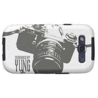 Caja del teléfono de la cámara del vintage galaxy s3 protectores