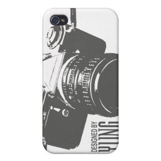 Caja del teléfono de la cámara del vintage iPhone 4 carcasa