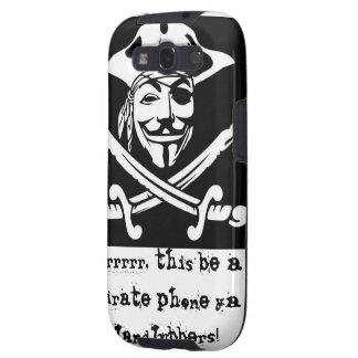 Caja del teléfono de la cara del pirata galaxy SIII cárcasa