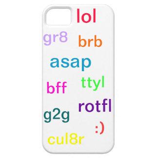 Caja del teléfono de la charla del texto iPhone 5 Case-Mate funda