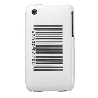 Caja del teléfono de la clave de barras iPhone 3 fundas