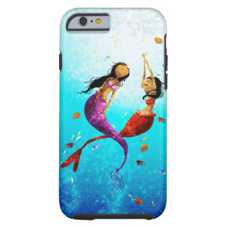 Caja del teléfono de la danza del agua funda de iPhone 6 tough