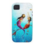 Caja del teléfono de la danza del agua iPhone 4 fundas