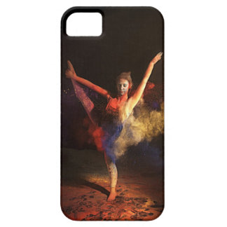 Caja del teléfono de la danza del polvo iPhone 5 carcasa