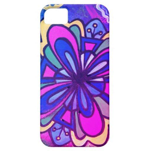 Caja del teléfono de la flor iPhone 5 Case-Mate cobertura