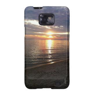 Caja del teléfono de la foto de la puesta del sol samsung galaxy s2 fundas
