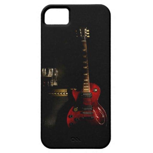 caja del teléfono de la guitarra eléctrica del iPhone 5 carcasas