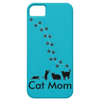 Caja del teléfono de la mamá del gato iPhone 5 carcasa