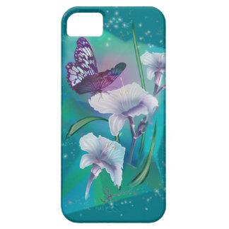 Caja del teléfono de la mariposa del baile iPhone 5 fundas