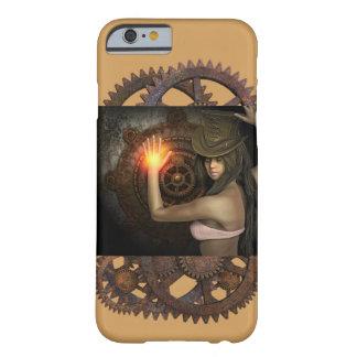 Caja del teléfono de la mujer de Steampunk Funda Barely There iPhone 6