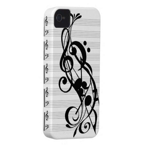 caja del teléfono de la música iPhone 4 Case-Mate fundas