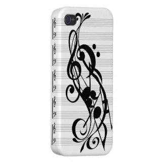 caja del teléfono de la nota de la música iPhone 4 fundas