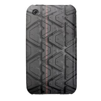Caja del teléfono de la pisada del neumático iPhone 3 Case-Mate coberturas