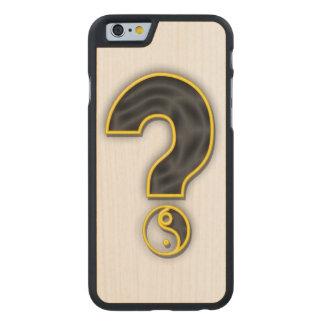 Caja del teléfono de la pregunta del género funda de iPhone 6 carved® slim de arce
