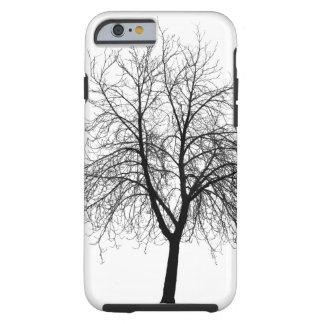 Caja del teléfono de la silueta del árbol funda para iPhone 6 tough