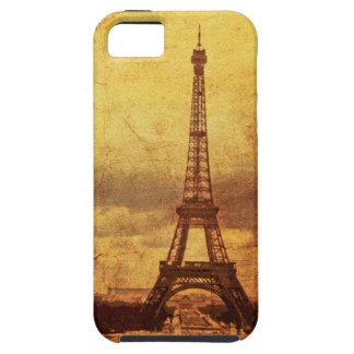 Caja del teléfono de la torre Eiffel i del vintage iPhone 5 Carcasa
