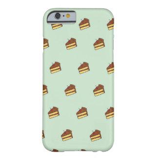 Caja del teléfono de la torta de chocolate funda de iPhone 6 barely there