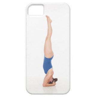 Caja del teléfono de la yoga del Headstand iPhone 5 Case-Mate Protector