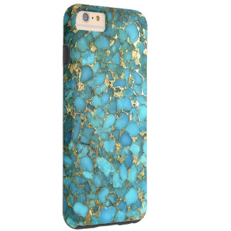 """Caja del teléfono de las azules turquesas "" Funda De iPhone 6 Plus Tough"