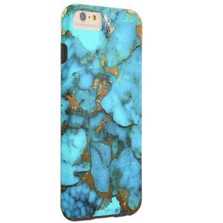 """Caja del teléfono de las azules turquesas "" Funda Resistente iPhone 6 Plus"