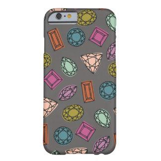 Caja del teléfono de las gemas - carbón de leña funda de iPhone 6 barely there
