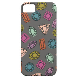 Caja del teléfono de las gemas - carbón de leña iPhone 5 fundas