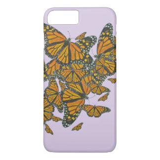 Caja del teléfono de las mariposas de monarca de funda iPhone 7 plus
