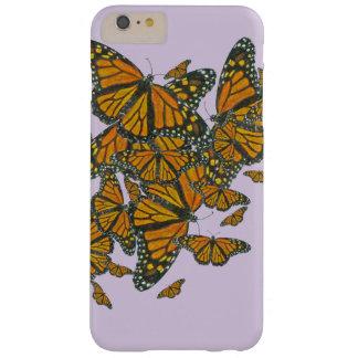Caja del teléfono de las mariposas de monarca de funda para iPhone 6 plus barely there