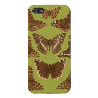 Caja del teléfono de las mariposas y de las polill iPhone 5 protector