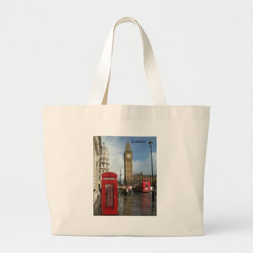 Caja del teléfono de Londres Big Ben (por St.K) Bolsas De Mano
