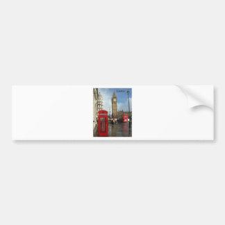 Caja del teléfono de Londres Big Ben por St K Etiqueta De Parachoque