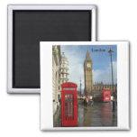 Caja del teléfono de Londres Big Ben (por St.K) Iman Para Frigorífico