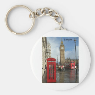 Caja del teléfono de Londres Big Ben (por St.K) Llavero Redondo Tipo Pin