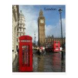 Caja del teléfono de Londres Big Ben (por St.K) Postales