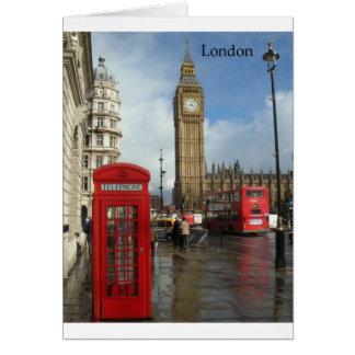 Caja del teléfono de Londres Big Ben (por St.K) Tarjeta De Felicitación