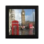 Caja del teléfono de Londres y Big Ben (St.K) Caja De Joyas