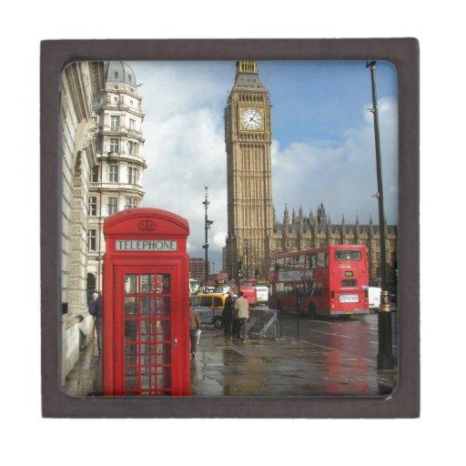 Caja del teléfono de Londres y Big Ben (St.K) Caja De Joyas De Calidad