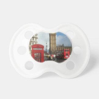 Caja del teléfono de Londres y Big Ben St K Chupetes Para Bebés