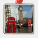 Caja del teléfono de Londres y Big Ben (St.K) Ornamento Para Reyes Magos