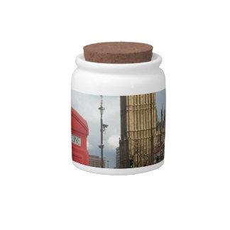 Caja del teléfono de Londres y Big Ben (St.K) Platos Para Caramelos