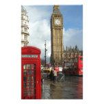 Caja del teléfono de Londres y Big Ben (St.K) Papelería De Diseño
