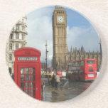 Caja del teléfono de Londres y Big Ben (St.K) Posavasos Personalizados